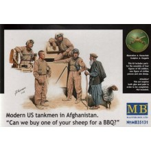 Modern US Tankmen in Afghanistan 'Sheep for the BBQ?' 1/35
