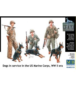 Dogs in service in the US Marine Corps, WWII 1/35