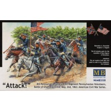 The Attack of the 8th Pennsylvania Cavalry 1/35