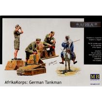 Afrika Korps: German Tank crew WWII 1/35