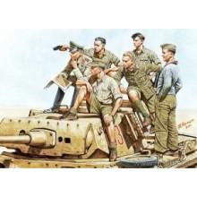 Rommel and German Tank Crew, DAK, WW II 1/35