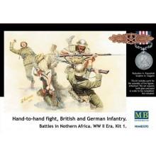 Cuerpo a cuerpo británicos y alemanes en África. 1/35