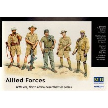 Allied Forces, WWII, North Africa desert battles series 1/35