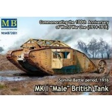 MK I Male British Tank, Somme Battle period, WWI 1916  1/72