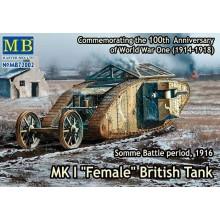 MK I Female British Tank, Somme Battle period, WWI 1916  1/72