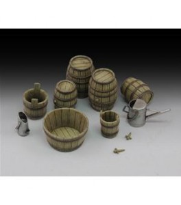 Wine barrels and farm accessories 1/35