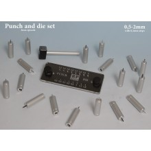 Punch and die set,from 0,5mm to 2mm with 0,1mm