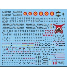 CALCAS OCTAVA ESCUADRILLA HARRIER AV-8S/TAV-8S MATADOR 1/48