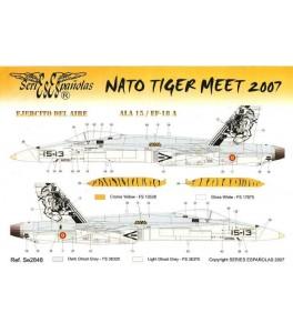 CALCA NATO TIGER MEET 2007 EF-18 A 1/48 SERIES ES