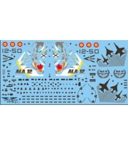 CALCA EF-18 A -50 ANIVERSARIO ALA 12 1/72