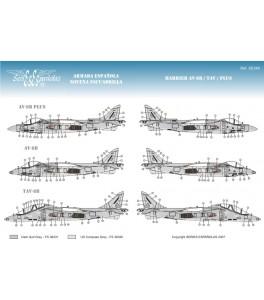 CALCAS HARRIER AV-8B/TAV/PLUS 1/72