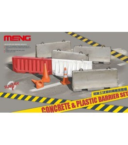 Concrete and Plastic barriers 1/35