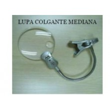 LUPA COLGANTE MEDIANA 108 MM. 2X,4X, 2 LUCES LED