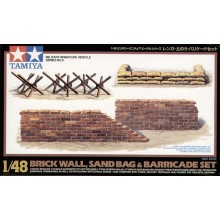 BRICK WALL,SAND BAG BARRICADE 1/48