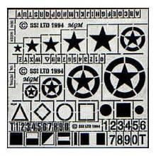 Estrellas, simbolos y números British 1/35