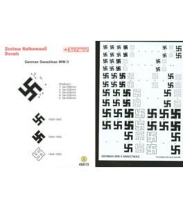 Luftwaffe/German Swastikas. Five sizes 250, 300, 400, 500, 600mm