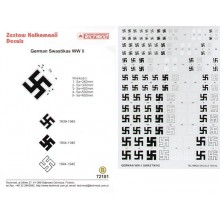 Luftwaffe Swastikas. Five sizes 250, 300, 400, 500, 600mm and six styles