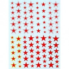 Russian Stars. Plain, with yellow outline, with white outline, with black or with red/white outline. 6 sizes 1/72