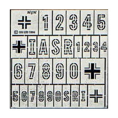 NUMEROS Y CRUCES GERMAN WW2 1/76