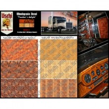Trucker´s delight Interior Wood Grain Decals