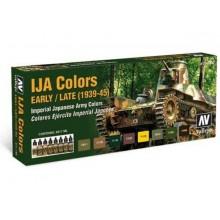 Set 8 acrylic colors in 17 ml - IJA COLORS 1939/1945