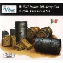 Italian 20L Jerry Can 200L fuel Drum Set 1/35