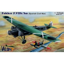 Fokker F.VIIb/3m. Decals Spanish Civil War. Republican and Nationalist 1/72