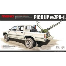 Dual Cab Toyota Hi-Lux Pick Up truck with ZPU1 anti-aircraft gun 1/35