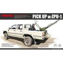 Dual Cab Toyota Hi-Lux Pick Up truck with ZPU1 anti-aircraft gun 1/35