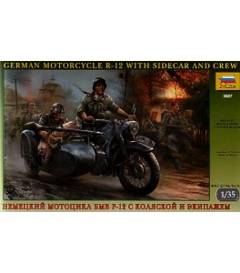 BMW R 12 Motorcycle with sidecar 1/35