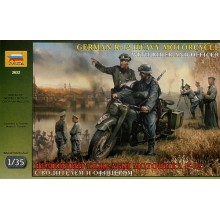 German WWII R12 Motorcycle and 2 riders 1/35