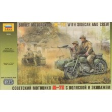 Russian WWII Motorcycle M-72 1/35