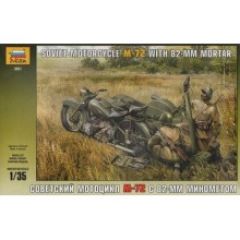 Soviet Motorcycle M-72 with Mortar 1/35