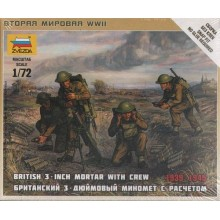 British Mortar with Crew 1939-1945 1/72