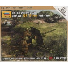 British Anti-Tank Gun QF 2-PDR with Crew 1/72