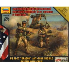 American Dragon Anti Tank Laucher with crew. 1/72