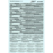 """Navy Style Font-Alphabet 12"""", 6"""" And 3""""-Black 1/72"""