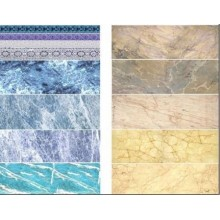 MARBLE DECAL BLUE & BEIGE