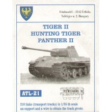 210 links. King/Hunting Tiger transport and Pz.Kpfw.V Panther II.2 sprocket wheels.
