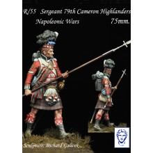 Sergeant 79th. Cameron Highlanders Napoleonic wars,75 mm.