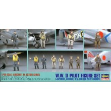 WWII Pilot figure set German, Japanese, American and British  1/48