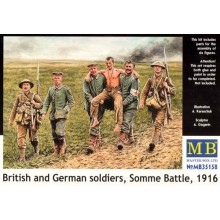 British and German soldiers, (WWI)Somme Battle, 1916 1/35