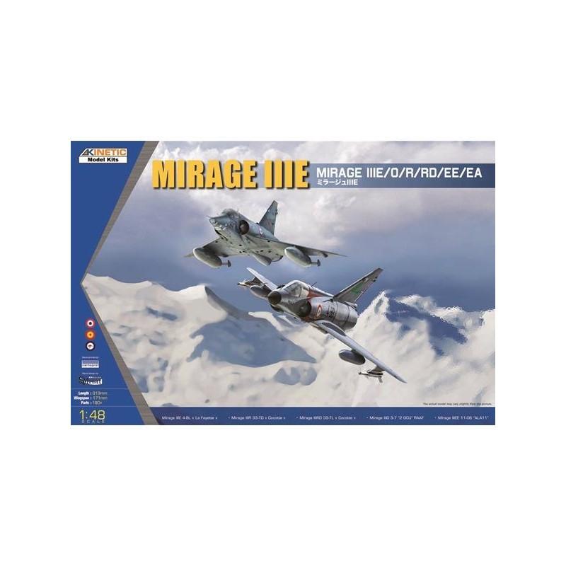 MIRAGE IIIE EE  //EA  KINETIC 1//48 PLASTIC KIT R O RD