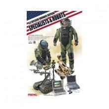 US EXPLOSIVE ORDNANCE DISPOSAL SPECIALISTS & ROBOTS 1/35